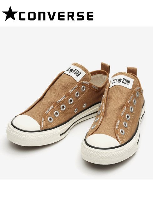 converse(コンバース)<br>ALL STAR LOGO-BD SLIP OX BROWN  21春夏【31303850】スニーカー