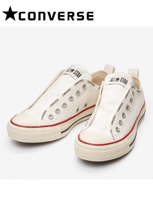 converse(コンバース)<br>ALL STAR LOGO-BD SLIP OX WHITE  21春夏【31303851】スニーカー