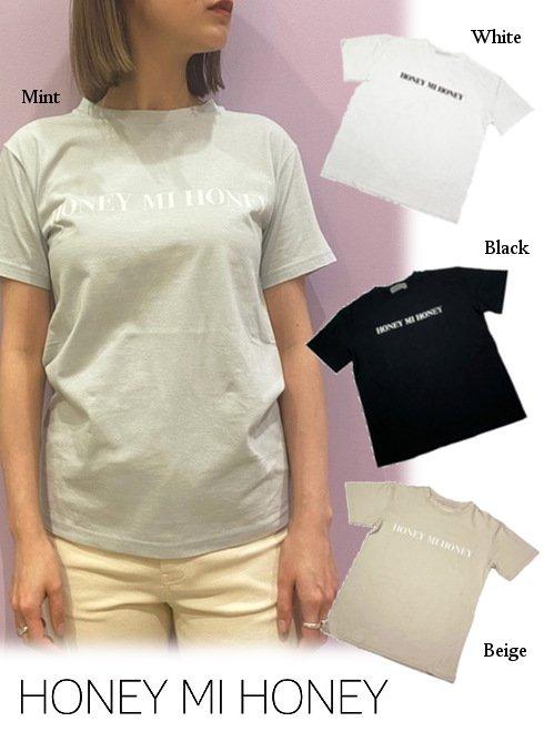 Honey mi Honey (ハニーミーハニー)<br>HONEY logo T-shirt  21春夏.予約【21S-VG-09】Tシャツ 入荷予定 : 5月中旬〜