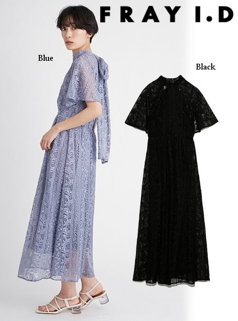FRAY I.D (フレイアイディー)<br>フローティング刺繍ドレス  21春夏.【FWFO212506】マキシワンピース