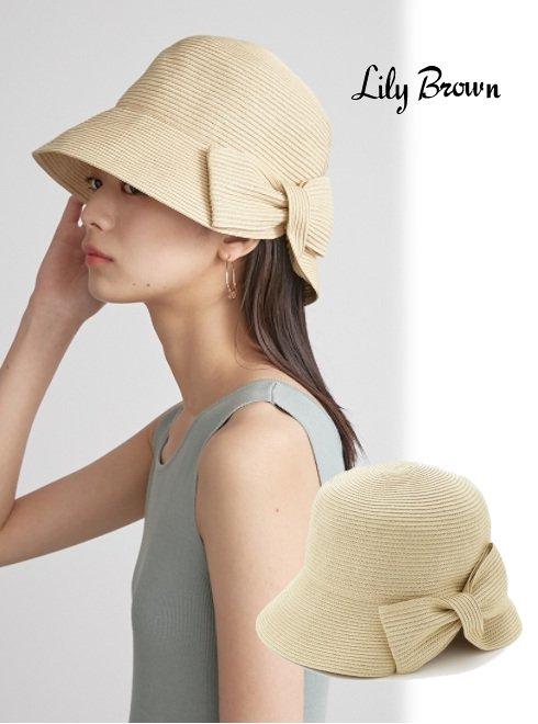 Lily Brown (リリーブラウン)<br>リボンブレードハット  21春夏.【LWGH212314】帽子