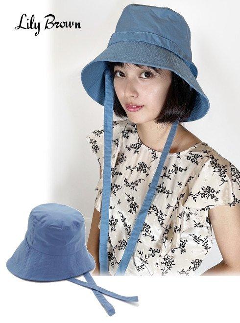 Lily Brown (リリーブラウン)<br>ポケッタブルバケットハット  21春夏.【LWGH212316】帽子