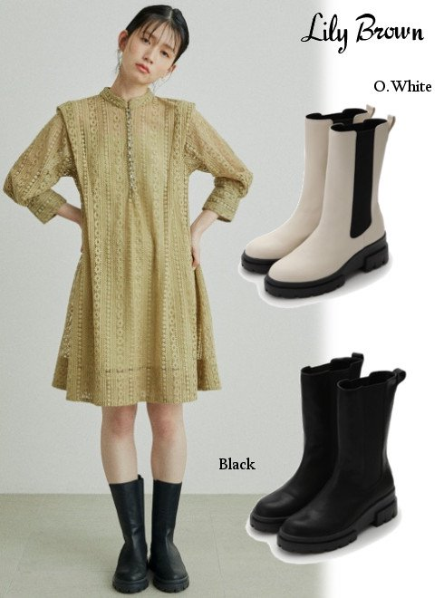 Lily Brown (リリーブラウン)<br>サイドゴアブーツ  21春夏.【LWGS214302】ブーツ