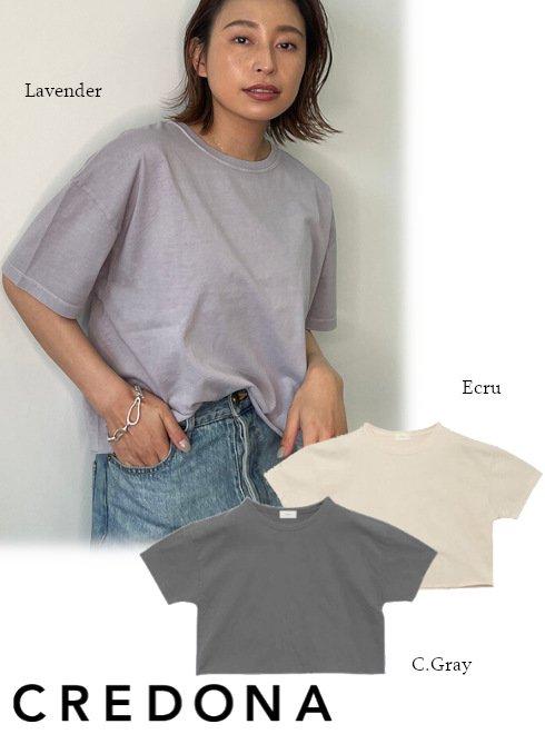 CREDONA (クレドナ)<br>VintageカラーTee  21春夏.【1421212029】Tシャツ