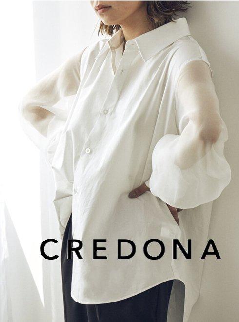 CREDONA (クレドナ)<br>シアースリーブシャツ  21春夏.予約【1421310569】シャツ・ブラウス 入荷予定 : 6月中旬〜