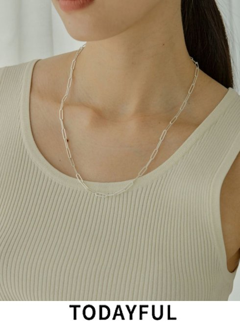 TODAYFUL (トゥデイフル)<br>'Flat Chain Choker(Silver925) ' 21秋冬【12110957】ネックレス