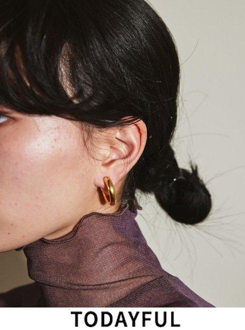 TODAYFUL (トゥデイフル)<br>'Middle Hoop Earring (Silver925)'   2021秋冬.予約【12120911】入荷予定 : 9月中旬〜