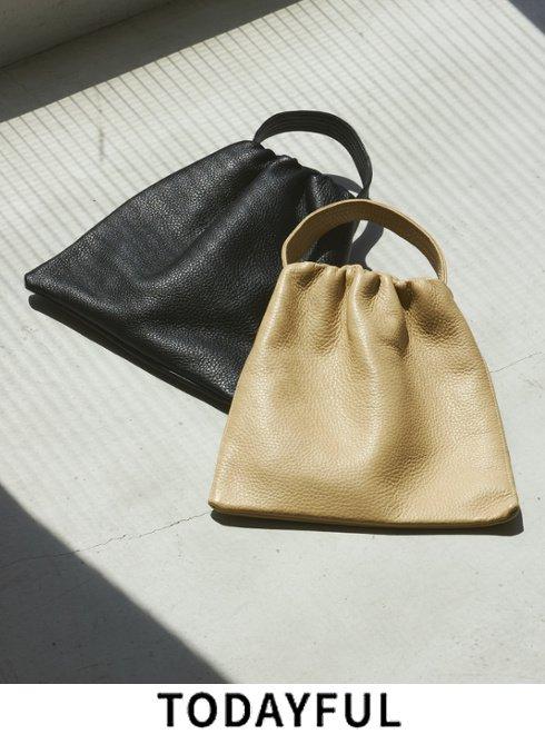 TODAYFUL (トゥデイフル)<br>Leather Square Bag   2021秋冬【12121006】ハンド・ショルダーバッグ