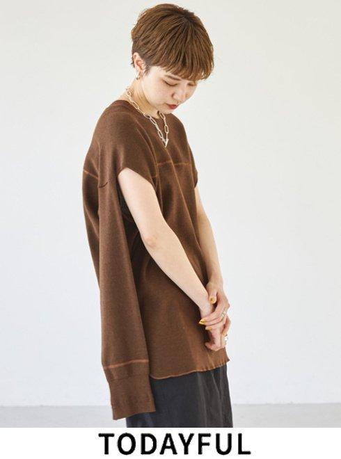 TODAYFUL (トゥデイフル)<br>Sleeveslit Rib Tops  2021秋冬【12120607】カットソー