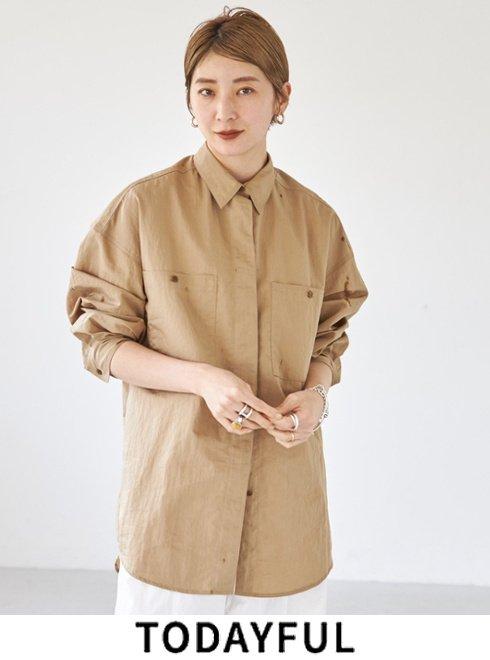 TODAYFUL (トゥデイフル)<br>Pocket Over Shirts  2021秋冬【12120407】シャツ・ブラウス