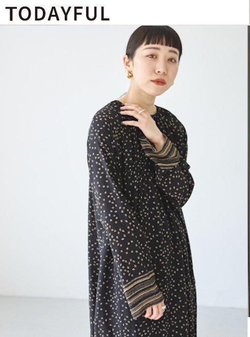 TODAYFUL (トゥデイフル)<br>Dot Pattern Dress  2021秋冬【12120312】マキシワンピース