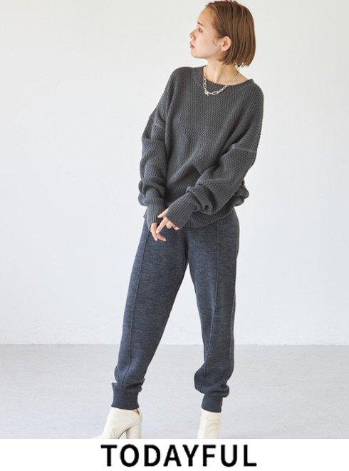 TODAYFUL (トゥデイフル)<br>Pintuck Knit Pants  2021秋冬【12120710】パンツ