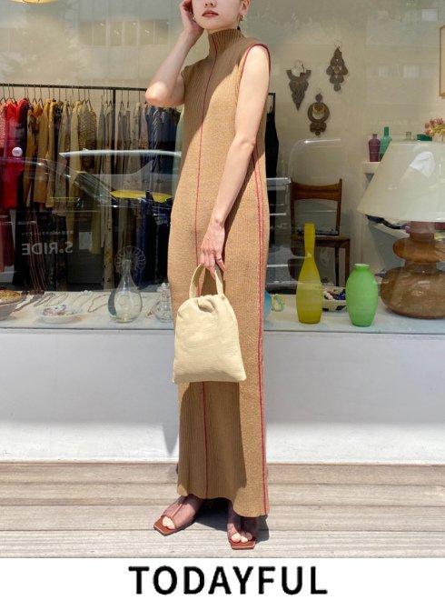 TODAYFUL (トゥデイフル)<br>Stitch Knit Dress  21秋冬【12120316】マキシワンピース  ★