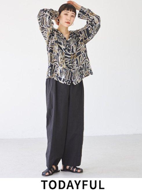 TODAYFUL (トゥデイフル)<br>'Washed Wide Pants'  21秋冬予約2 【12120713】パンツ   入荷時期;9月中旬~