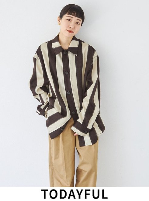 TODAYFUL (トゥデイフル)<br>Jacquard Stripe Jacket  21秋冬【12120104】ジャケット