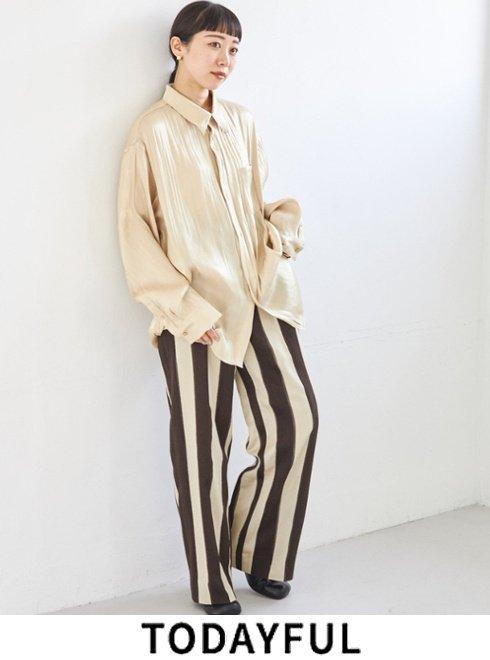 TODAYFUL (トゥデイフル)<br>Jacquard Stripe Pants  21秋冬予約【12120707】パンツ 入荷予定 : 8月中旬〜   ★