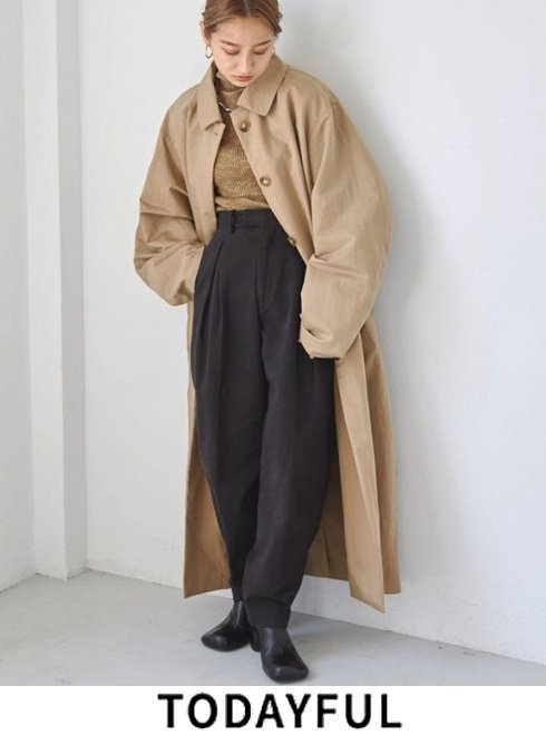 TODAYFUL (トゥデイフル)<br>Soutiencollar Over Coat  21秋冬【12120001】トレンチコート