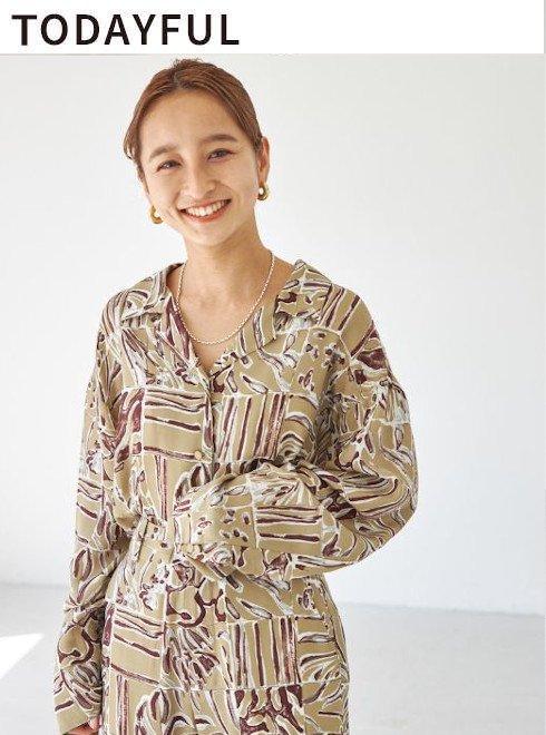 TODAYFUL (トゥデイフル)<br>Patchwork Pattern Shirts  21秋冬【12120412】シャツ・ブラウス  ★