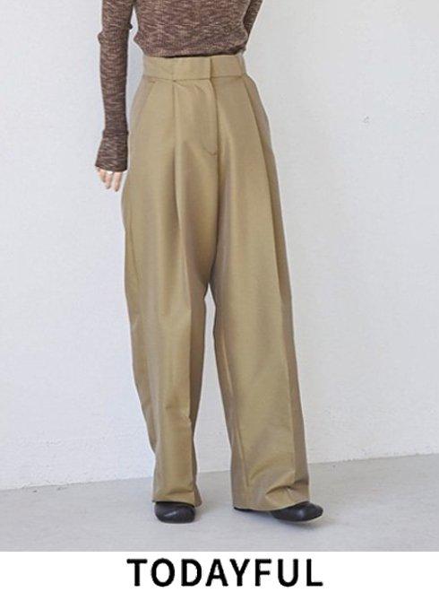 TODAYFUL (トゥデイフル)<br>Chambray Twill Trousers  21秋冬予約【12120712】パンツ 入荷予定 : 9月中旬〜   ★