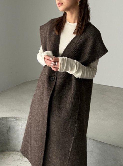 TODAYFUL (トゥデイフル)<br>Wool Rever Vest  21秋冬予約【12120105】ベスト 入荷予定 : 9月中旬〜   ★