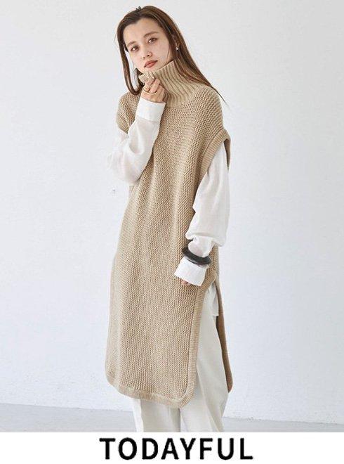TODAYFUL (トゥデイフル)<br>Roundhem Knit Vest  21秋冬【12120505】ニットトップス  ★