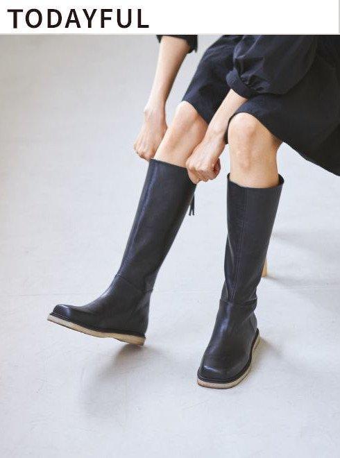 TODAYFUL (トゥデイフル)<br>Backzip Long Boots  21秋冬予約【12121008】ブーツ 入荷予定 : 9月中旬〜   ★