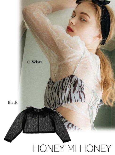 Honey mi Honey (ハニーミーハニー)<br>round collar lace blouse  21秋冬予約【21A-VG-06】入荷予定 : 8月中旬〜