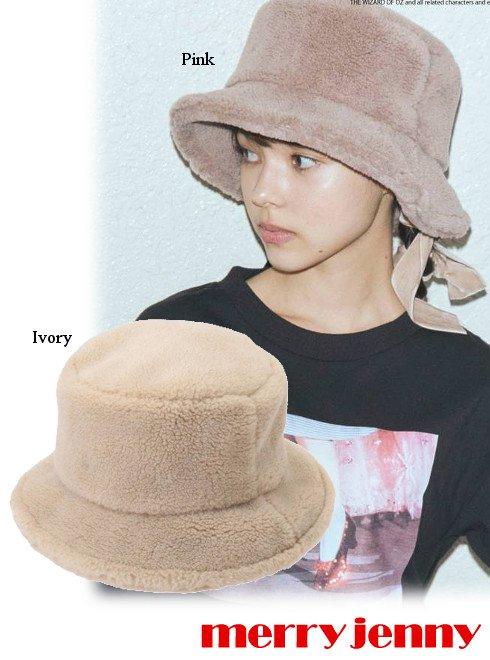 merry jenny (メリージェニー)<br>mocomocoボアhat  21秋冬予約【282151001101】帽子 入荷予定 : 9月中旬〜