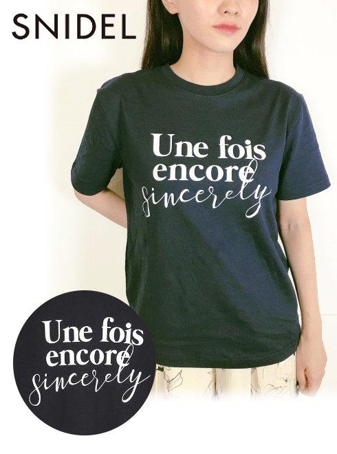 snidel (スナイデル)<br>ロゴT-Shirt  21秋冬【SWCT214137】Tシャツ