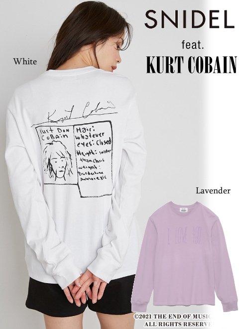 snidel (スナイデル)<br>KurtCobainグラフィックロンT  21秋冬【SWCT214034】Tシャツ