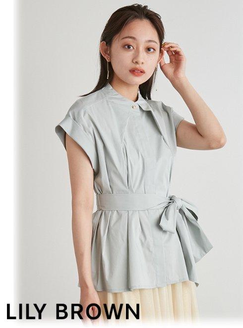 Lily Brown (リリーブラウン)<br>スリーブレスシャツ  21秋冬【LWFB214039】シャツ・ブラウス