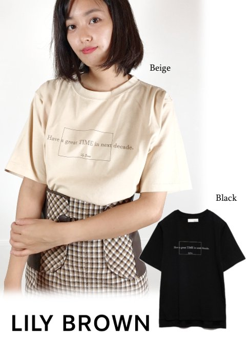 Lily Brown (リリーブラウン)<br>DECADE-Tシャツ  21秋冬【LWCT214051】Tシャツ