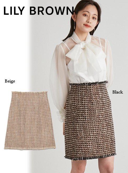 Lily Brown (リリーブラウン)<br>ツイードミニスカート  21秋冬【LWFS214044】フレアスカート