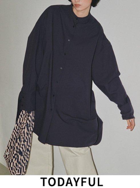 TODAYFUL (トゥデイフル)<br>Standcollar Over Shirts  21秋冬.予約【12120418】シャツ・ブラウス 入荷予定 : 10月中旬〜