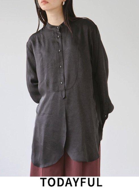 TODAYFUL (トゥデイフル)<br>Satin Dress Shirts  21秋冬.【12120420】シャツ・ブラウス