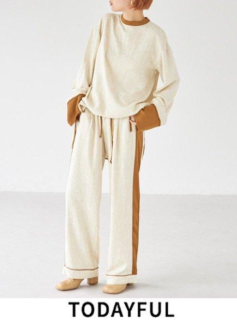 TODAYFUL (トゥデイフル)<br>Jacquard Pajamas Pants  21秋冬.予約【12120729】パンツ 入荷予定 : 10月中旬〜