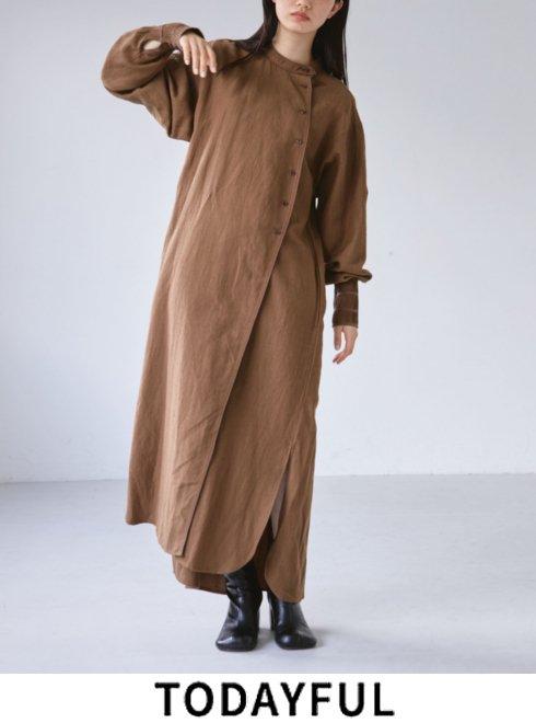 TODAYFUL (トゥデイフル)<br>Woollinen Asymmetry Dress  21秋冬.予約【12120323】マキシワンピース 入荷予定 : 10月中旬〜