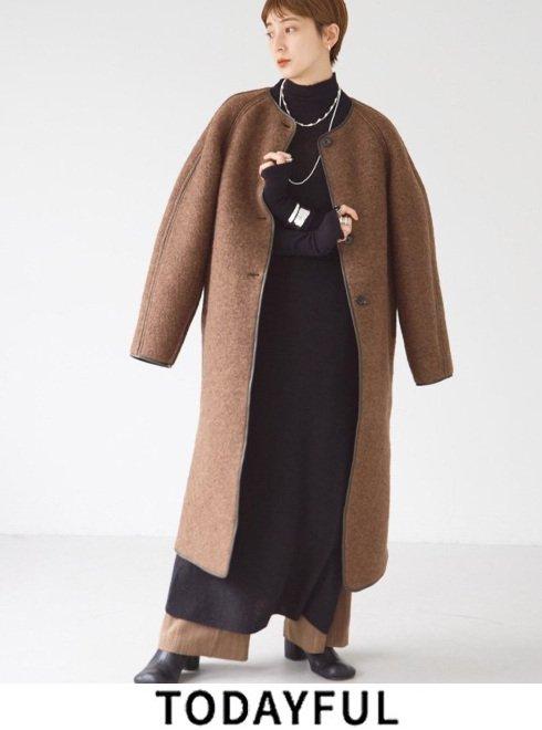 TODAYFUL (トゥデイフル)<br>Wool Jersey Coat  21秋冬.予約【12120010】ウールコート 入荷予定 : 11月中旬〜
