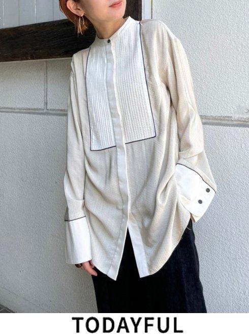 TODAYFUL (トゥデイフル)<br>Dot Dress Shirts  21秋冬.予約【12120425】シャツ・ブラウス 入荷予定 : 11月中旬〜