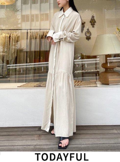 TODAYFUL (トゥデイフル)<br>Dot Shirts Dress  21秋冬.予約【12120327】マキシワンピース 入荷予定 : 11月中旬〜