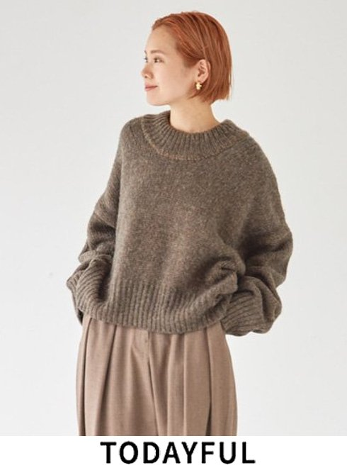 TODAYFUL (トゥデイフル)<br>Wool Roundhem Knit  21秋冬.予約【12120521】ニットトップス 入荷予定 : 11月中旬〜