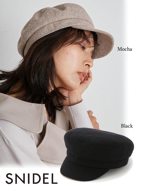 snidel (スナイデル)<br>ウールキャスケット  21秋冬.【SWGH215627】帽子