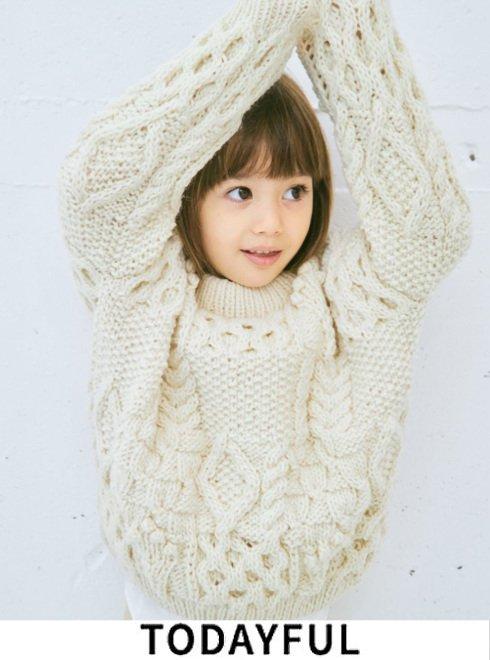 TODAYFUL (トゥデイフル)<br>Pattern Hand Knit (KIDS)  21秋冬.【32120501】ニットトップス