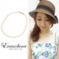 Enasoluna(エナソルーナ) <br>Little Girl Pearl necklace【NK-760】 ネックレス