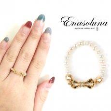 Enasoluna(エナソルーナ) <br>Little Girl Pearl ring【RG-762】 リング