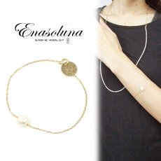 Enasoluna(エナソルーナ) <br>True pearl bracelet 【BS-811】 ブレスレット・アンクレット