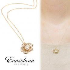 Enasoluna(エナソルーナ) <br>Flower pearl necklace【NK-803】 ネックレス