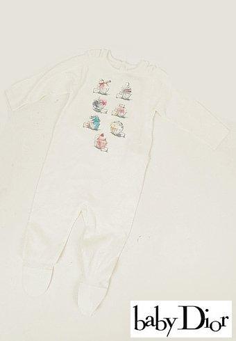 Dior BABY(ディオールベイビー)<br>カップケーキ柄ロンパース ワンピース