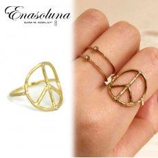 Enasoluna(エナソルーナ) <br>'Peace dia ring' 予約【RG-855】 リング