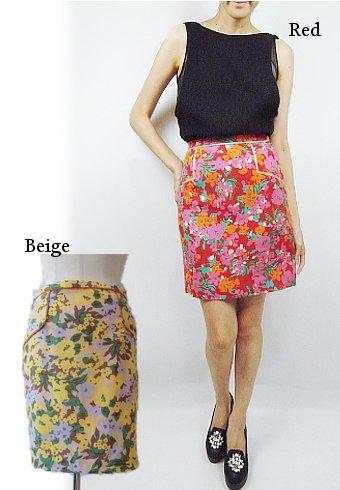 BannerBarrett(バナーバレット)<br>ネップフラワープリントスカート 【13305025】 タイトスカート sale